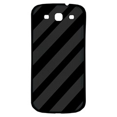 Gray and black lines Samsung Galaxy S3 S III Classic Hardshell Back Case
