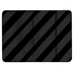 Gray and black lines Samsung Galaxy Tab 7  P1000 Flip Case