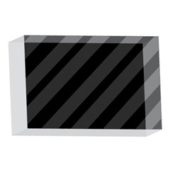 Gray and black lines 4 x 6  Acrylic Photo Blocks