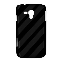 Gray and black lines Samsung Galaxy Duos I8262 Hardshell Case