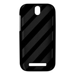 Gray and black lines HTC One SV Hardshell Case