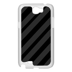 Gray and black lines Samsung Galaxy Note 2 Case (White)