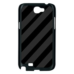 Gray and black lines Samsung Galaxy Note 2 Case (Black)