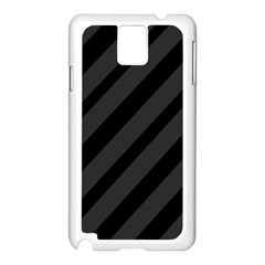 Gray and black lines Samsung Galaxy Note 3 N9005 Case (White)