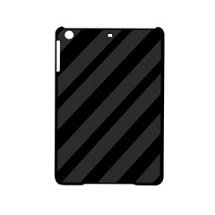 Gray and black lines iPad Mini 2 Hardshell Cases