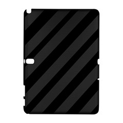 Gray and black lines Samsung Galaxy Note 10.1 (P600) Hardshell Case