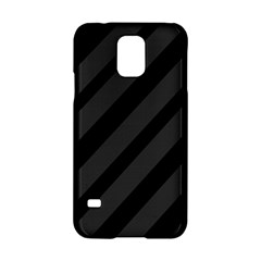 Gray and black lines Samsung Galaxy S5 Hardshell Case