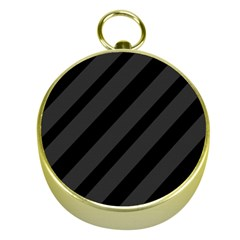 Gray and black lines Gold Compasses