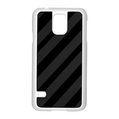 Gray And Black Lines Samsung Galaxy S5 Case (white)