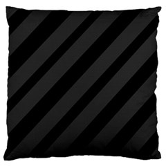 Gray and black lines Standard Flano Cushion Case (Two Sides)