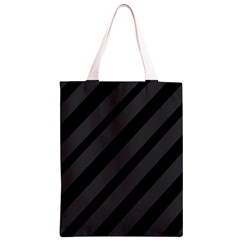 Gray and black lines Classic Light Tote Bag