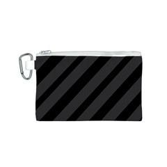 Gray and black lines Canvas Cosmetic Bag (S)
