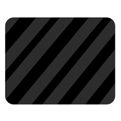 Gray and black lines Double Sided Flano Blanket (Large)