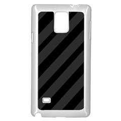 Gray and black lines Samsung Galaxy Note 4 Case (White)