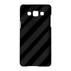 Gray and black lines Samsung Galaxy A5 Hardshell Case