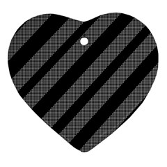 Black and gray lines Ornament (Heart)