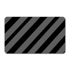 Black and gray lines Magnet (Rectangular)