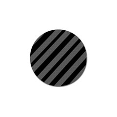 Black and gray lines Golf Ball Marker