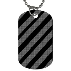 Black and gray lines Dog Tag (Two Sides)
