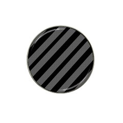 Black and gray lines Hat Clip Ball Marker (4 pack)