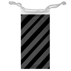 Black and gray lines Jewelry Bags