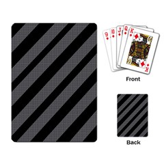 Black and gray lines Playing Card