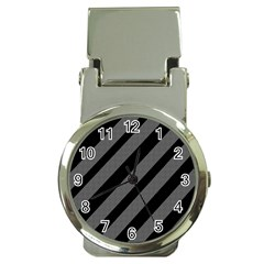 Black and gray lines Money Clip Watches