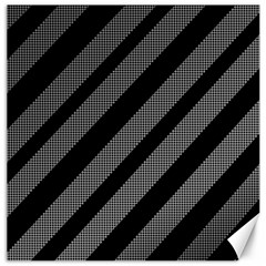 Black and gray lines Canvas 12  x 12