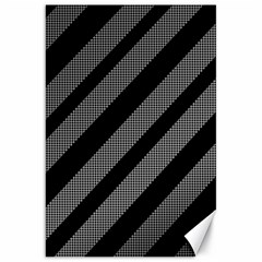 Black and gray lines Canvas 20  x 30