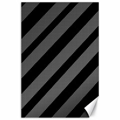 Black and gray lines Canvas 24  x 36