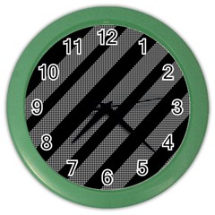 Black and gray lines Color Wall Clocks