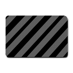 Black and gray lines Small Doormat