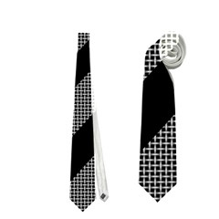 Black and gray lines Neckties (Two Side)
