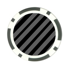 Black and gray lines Poker Chip Card Guards
