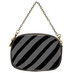 Black and gray lines Chain Purses (Two Sides)