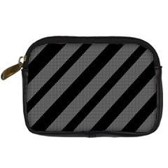 Black and gray lines Digital Camera Cases