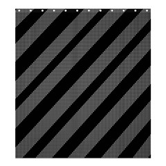Black and gray lines Shower Curtain 66  x 72  (Large)
