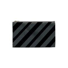 Black and gray lines Cosmetic Bag (Small)