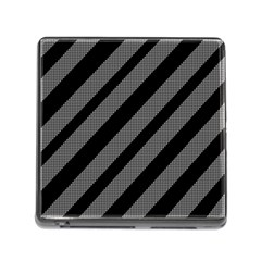 Black and gray lines Memory Card Reader (Square)