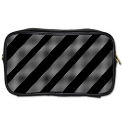 Black and gray lines Toiletries Bags 2-Side