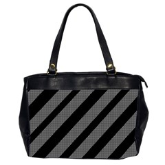 Black and gray lines Office Handbags (2 Sides)