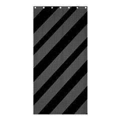 Black and gray lines Shower Curtain 36  x 72  (Stall)