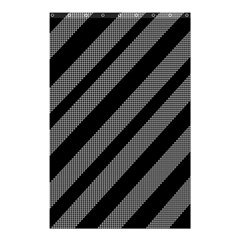 Black and gray lines Shower Curtain 48  x 72  (Small)