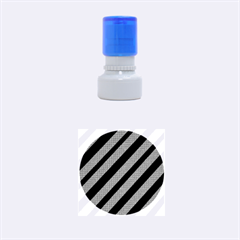 Black and gray lines Rubber Round Stamps (Small)