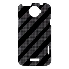 Black and gray lines HTC One X Hardshell Case