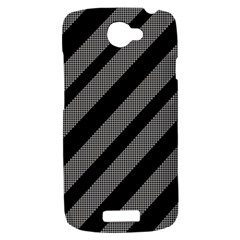 Black and gray lines HTC One S Hardshell Case