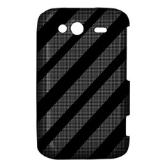 Black and gray lines HTC Wildfire S A510e Hardshell Case