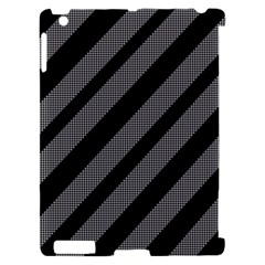 Black and gray lines Apple iPad 2 Hardshell Case (Compatible with Smart Cover)