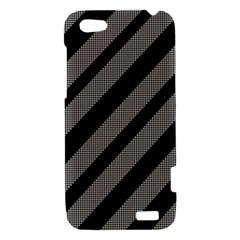 Black and gray lines HTC One V Hardshell Case