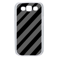 Black and gray lines Samsung Galaxy S III Case (White)